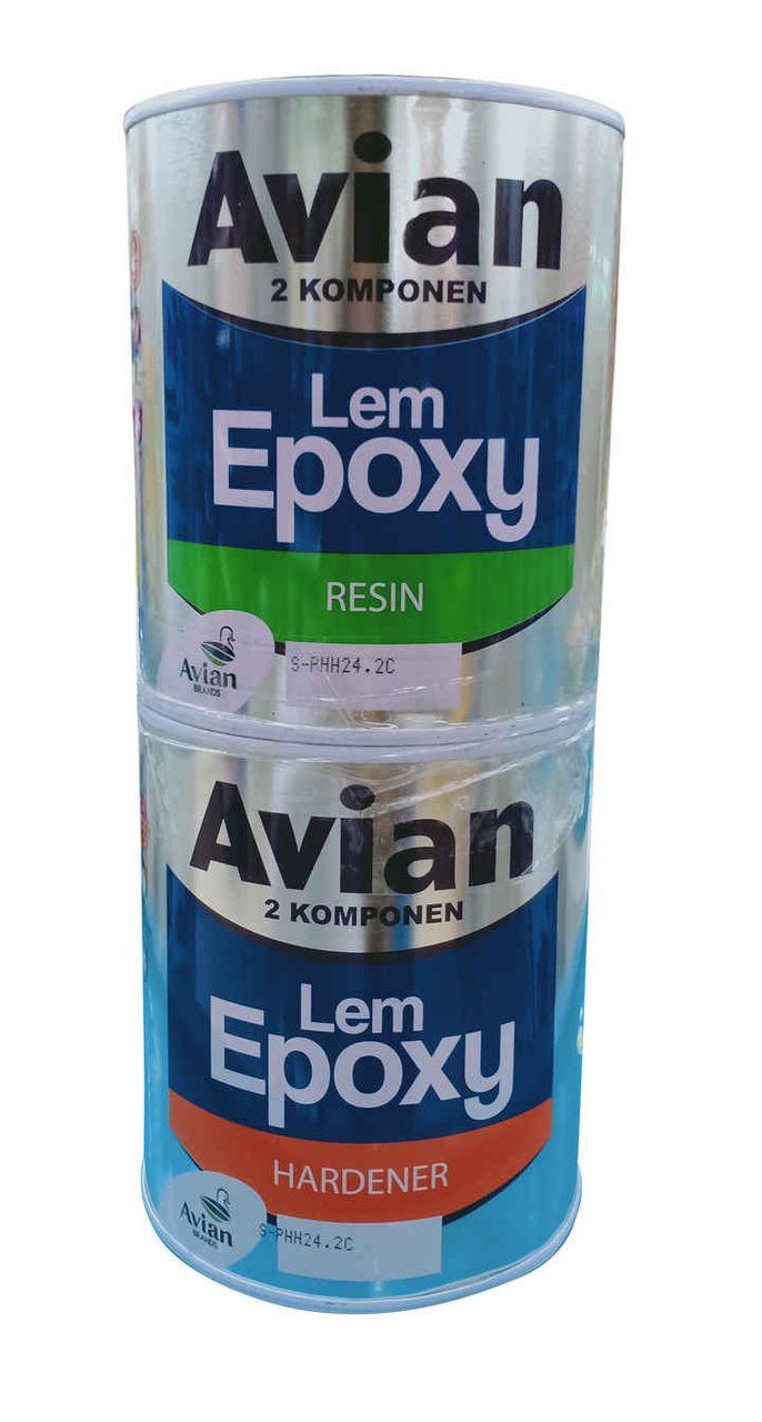 AVIAN LEM EPOXY RESIN + HARDENER 1KG SET