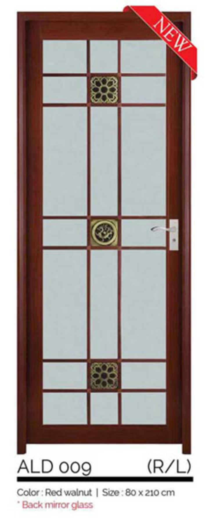 MERIDIAN PINTU ALM ALD 009 RED WALNUT RIGHT 80X210CM PCS