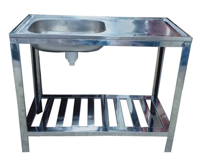 METALCO SGL BOWL 36/18+KAKI KITCHEN SINK PCS